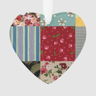 Patchwork Heart Ornament
