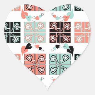 Patchwork Heart Sticker