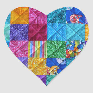"""""""Patchwork Heart"""" Stickers"""