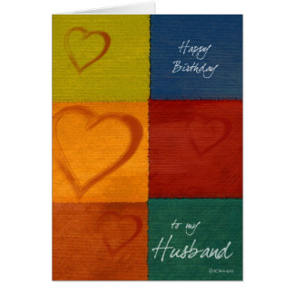 Patchwork Hearts-BDHus Greeting Card