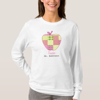 Patchwork Inspired Plaid Apple Teacher T-Shirt