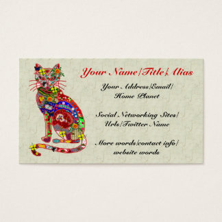Patchwork Kitty Business Card