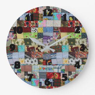 PATCHWORK LARGE CLOCK