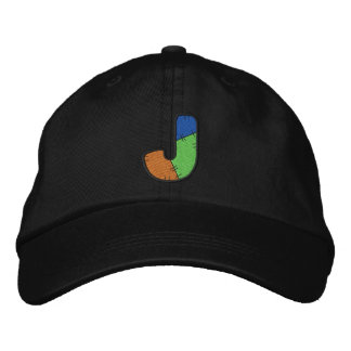 Patchwork Letter J Embroidered Baseball Caps
