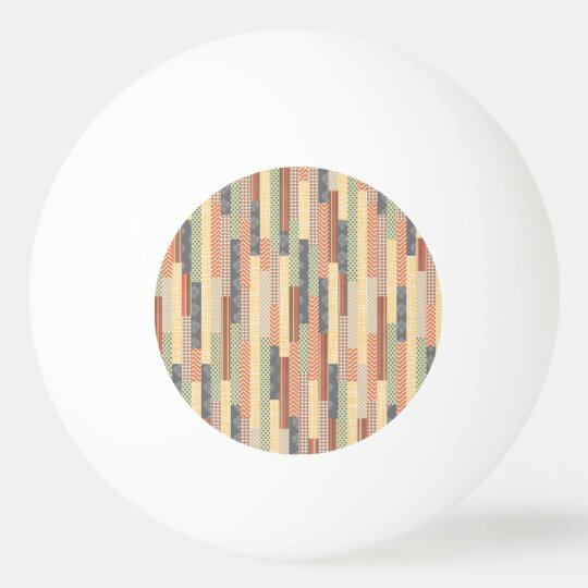 Patchwork Lines Ping Pong Ball