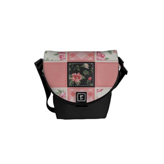 Patchwork, Mini Messenger Bag Outside Print