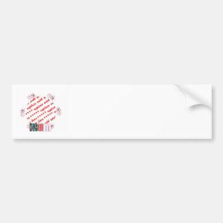 Patchwork 'MUM'  Photo Frame Bumper Stickers
