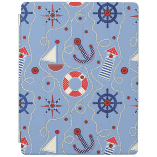 Patchwork Nautical Design iPad Cover