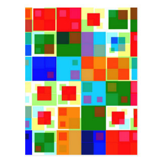 Patchwork Of Color Postcard