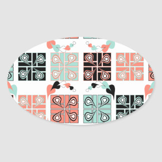 Patchwork Oval Sticker