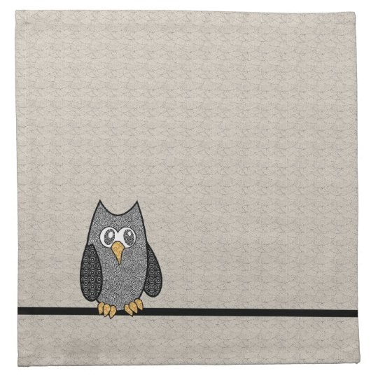 Patchwork Owl Cocktail Napkins