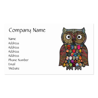 Patchwork Owl Pack Of Standard Business Cards
