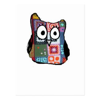 Patchwork Owl Postcard