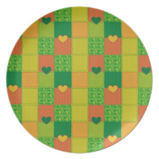 Patchwork Party Plate