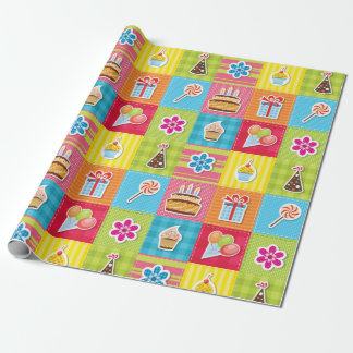 Patchwork party wrapping paper
