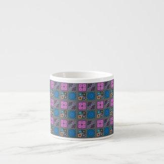 Patchwork Pattern Espresso Mug