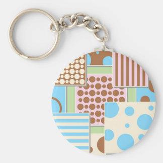 Patchwork Pattern Keychains