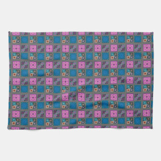 "Patchwork Pattern Kitchen Towel 16"" x 24"""