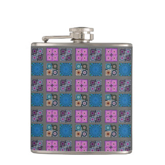 Patchwork Pattern Vinyl Wrapped Flask
