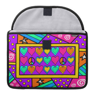 Patchwork Peace and Love Sleeve For MacBook Pro
