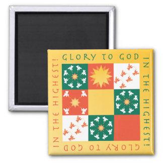 Patchwork Praise Christmas Magnet