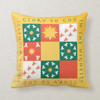 Patchwork Praise Christmas Pillow rv