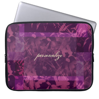 Patchwork Purple Personalized Laptop Sleeve Electr