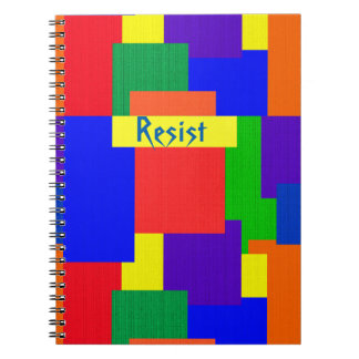 Patchwork Quilt Design Rainbow Resist Notebook