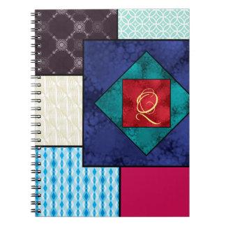 Patchwork Quilt Monogram Notebooks