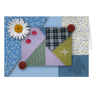 Patchwork Quilt Note Card