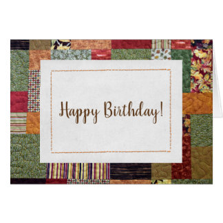 patchwork quilt pattern for birthday card