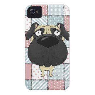 Patchwork Quilt Pug iPhone 4 Cases
