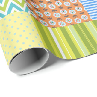 Patchwork Quilt Wrapping Paper