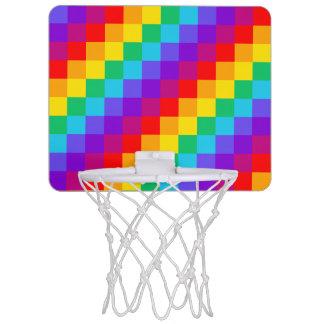 Patchwork Rainbow Mini Basketball Hoop
