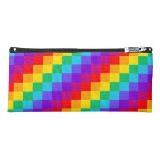 Patchwork Rainbow Pencil Case