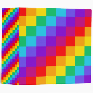 Patchwork Rainbow Three Ring Binder