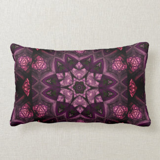 Patchwork Sangria Kaleidoscope Lumbar Pillow