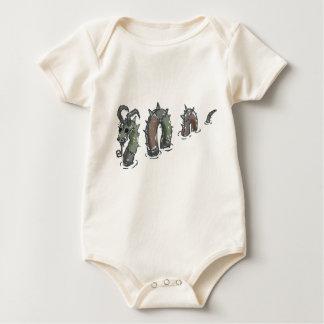 Patchwork sea serpent, baby creeper/bodysuit baby bodysuit