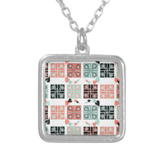 Patchwork Silver Plated Necklace