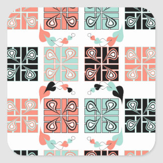 Patchwork Square Sticker