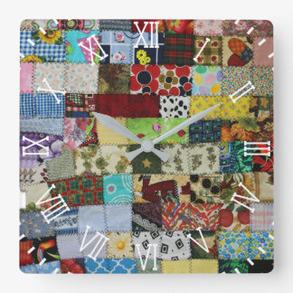 PATCHWORK SQUARE WALL CLOCK