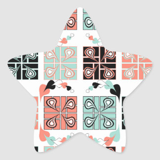 Patchwork Star Sticker