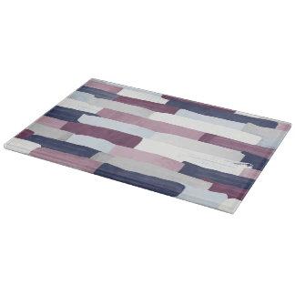 Patchwork Stripe Glass Chopping Board