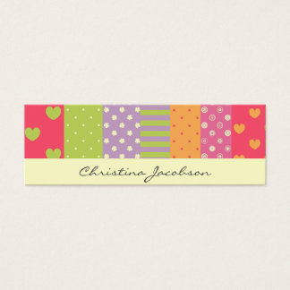 Patchwork-style Calling Mini Business Card