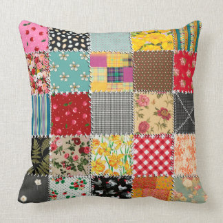 "Patchwork Throw Pillow, Throw Pillow 20"" x 20"""