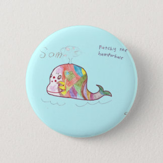PATCHY THE HUMPWHALE 2 INCH ROUND BUTTON