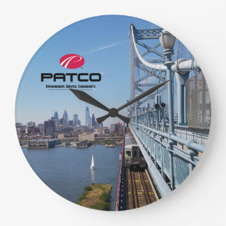 PATCO Philadelphia Skyline Wall Clock - Circle