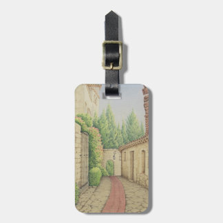 Path in Eze, Cote D'Azur Pastel Luggage Tag