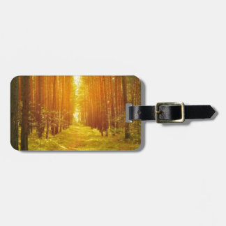 Path in the Forest at Sunrise Luggage Tag