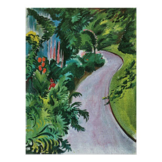 Path in the garden by August Macke Print
